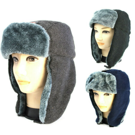 img-Trapper Hat Winter Warm Russian Face Masks Ski Cap Windproof Outdoor Men Cossack