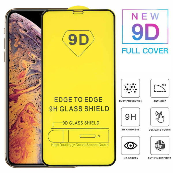 PELLICOLA IN VETRO 9D PREMUIM FULL TEMPERED GLASS per IPHONE X / XS / 11 PRO