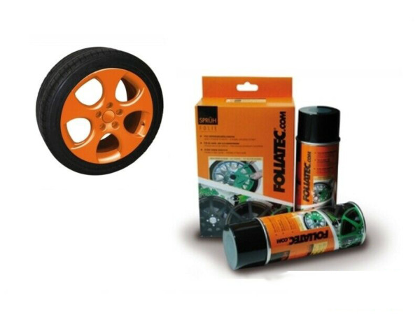 ItalieSet Film Spray  Paint Rims Alloy Wheels Orange
