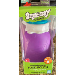 Kyпить New Squeasy Snacker Silicone Reuseable 6oz Purple Food Pouch на еВаy.соm