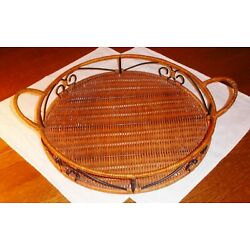 Princess House Casual Home Rattan Serving Tray  2328