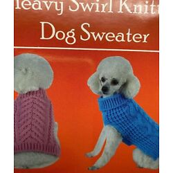 Swivel-Swirl Heavy Cable Knitted Fashion Designer Pet Dog Sweater Clothes Pink