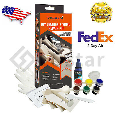 DIY Leather and Vinyl Repair Kit Fix Holes Rips Upholstery Clothing