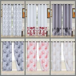 Kyпить 2PC Printed Blackout Window Curtains Bedroom Living Room White Lined Fabric 84 на еВаy.соm