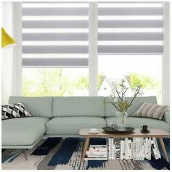 Kyпить Horizontal Window Shade Blind Zebra Dual Roller Blinds Curtains,Easy to Install на еВаy.соm