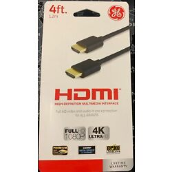 Kyпить GE 4ft HDMI UltraHD 4K Full HD 1080P Cable - Gold Connectors - Ships from USA на еВаy.соm