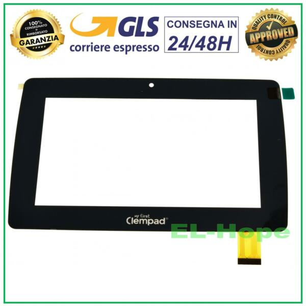 TOUCH SCREEN VETRO CLEMENTONI MY FIRST CLEMPAD 7.0 PLUS V38189 16604 16602 NERO