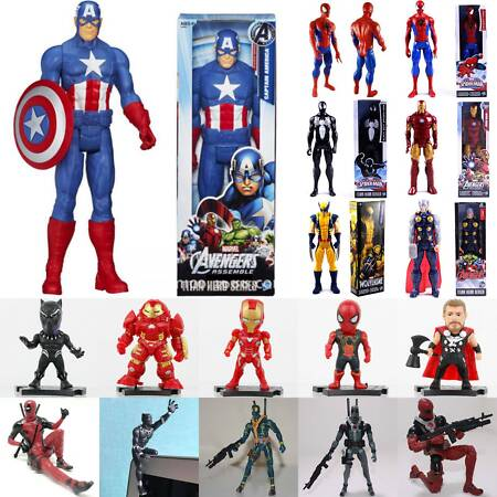 img-Marvel Avengers Captain America Superhero Action Figure Kids Toys Collection UK