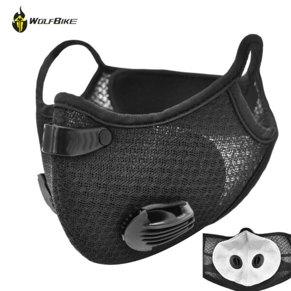 Reusable Activated Carbon Face Cover with Filter Mouth Covers Dustproof Scarf