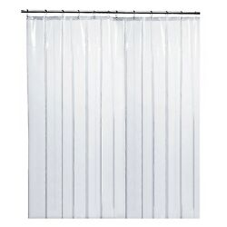 Kyпить LiBa Clear Shower Curtain Liner, Mildew Resistant, Anti-Bacterial, PEVA, 72x72  на еВаy.соm