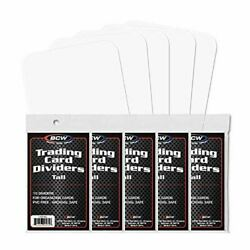 Kyпить BCW TALL TRADING CARD DIVIDERS - PACK OF 50 на еВаy.соm