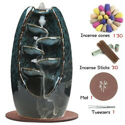 Kyпить Ceramic waterfall incense burner+50 incense cones+30 incense sticks на еВаy.соm