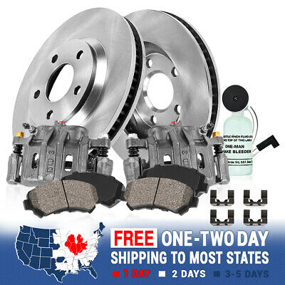 Front Brake Calipers And Rotors + Pads For Chrysler Aspen 2009 - 2015 Ram 1500