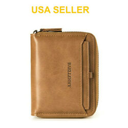 Kyпить Men's Mens Leather Bifold Credit ID Card Holder Wallet Zipper Coin Pocket Purse на еВаy.соm