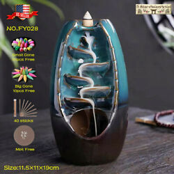 Kyпить Ceramic Backflow Incense Cone Burner Holder Glaze Waterfall028 &  Cones Gift на еВаy.соm