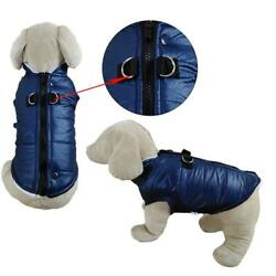 Paris Pawture Padded Vest Jacket with Zipper Closure and Leash Ring