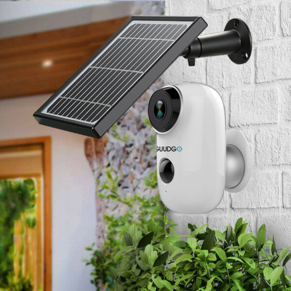 GUUDGO A3 Camera and Solar Panel Set 1080P Wireless Rechargeable