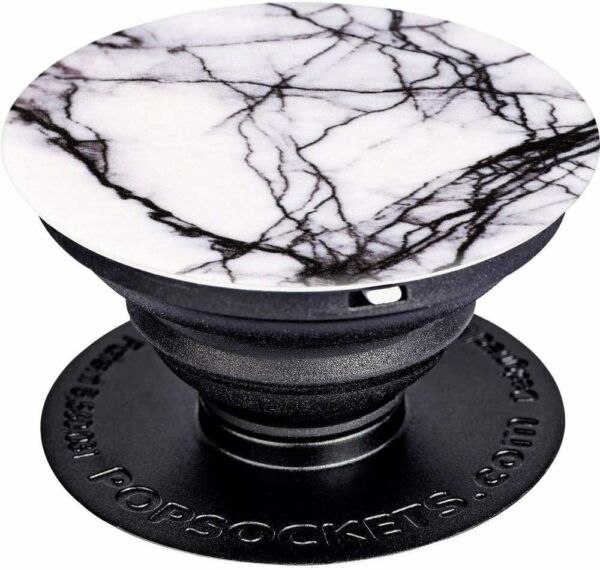 Irlande (Eire)PopSockets Extendable Base and Grip for /Tablet, White Marble