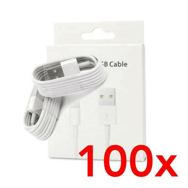 for iPhone USB Lightning Sync Charger Data Cable in BOX x100 * BULK * Wholesale*