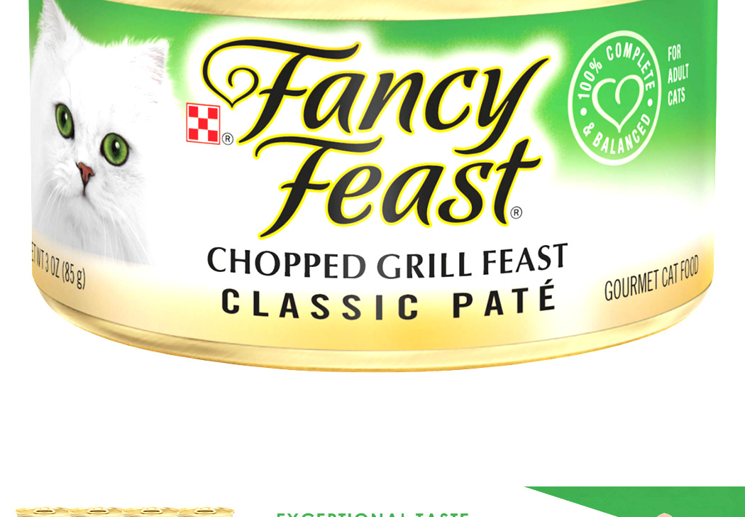 Purina Fancy Feast Pate Adult Canned Wet Cat Food Chopped Grill (24) 3 Oz. Cans