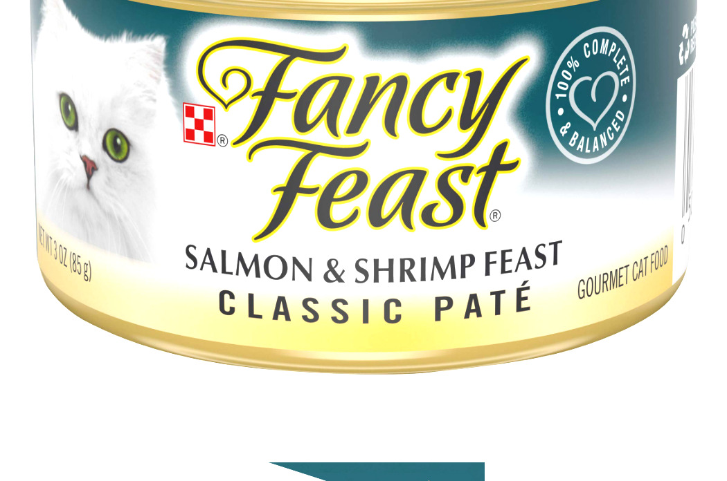 Purina Fancy Feast Pate Adult Canned Wet Cat Food Salmon & Shrimp Classic Pate