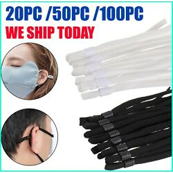 Kyпить 20-100 Sewing Elastic Band Cord with Adjustable Buckle for DIY Mask Sewing USA на еВаy.соm