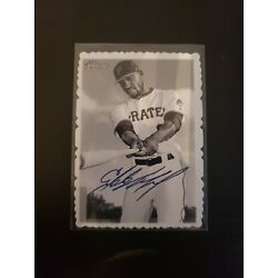 2018 Topps Heritage High Number Deckle Edge Starling Marte 25 of 30 Pirates