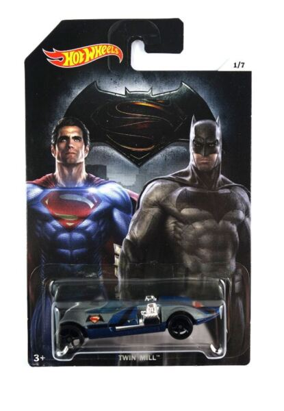 Royaume-UniHot Wheels Batman vs Superman Voiture - Double Moulin 1/7 DJL47- Modèle Moulé