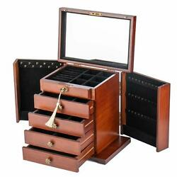 Kyпить Extra Large Wooden Jewelry Case Cabinet Armoire Ring Necklacel Gift Storage Box на еВаy.соm