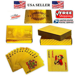 Kyпить NEW Certified 24K GOLD Foil PLATED Poker PLAYING CARDS Deck Collection US Dollor на еВаy.соm