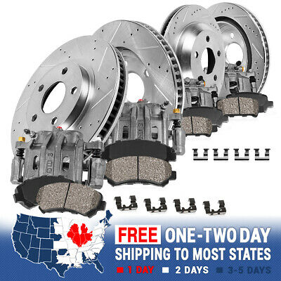 Front And Rear Brake Calipers Rotors & Pads For 2003 2004 2005 DODGE RAM 1500