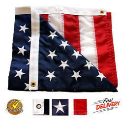 3'X5' ft American Flag US USA   EMBROIDERED Stars  Sewn Stripes  Brass Grommets