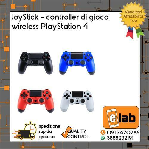 JOYSTICK CONTROLLER DI GIOCO WIRELESS PLAYSTATION 4 COMPATIBILE DOUBLESHOCK PS4
