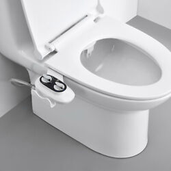 Kyпить Bidet Fresh Water Spray Kit Non Electric Toilet Seat Attachment with Dual Nozzle на еВаy.соm
