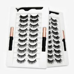 Kyпить SEXYSHEEP 10 Pairs 3D 5D Magnetic Eyelashes Kit Magnetic Eyeliner Natural Look на еВаy.соm