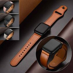 Kyпить Genuine Leather Apple Watch Band For iWatch Series 6 5 4 3 2 38mm/40mm 42mm/44mm на еВаy.соm