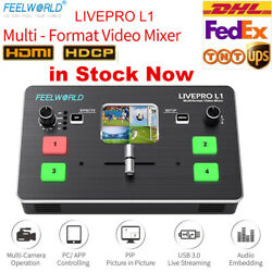 Kyпить FEELWORLD LIVEPRO L1 Multi-format Video Switcher 4 HDMI Real Time Live Streaming на еВаy.соm