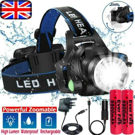 img-Rechargeable Tactical Head Torch Fishing Headlamp 350000LM T6 LED Light Lamp UK