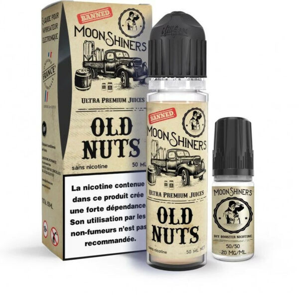 Ajat,France Moon Shiners Old Nuts 50ML - LE FRENCH LIQUIDE + 1 Booster 20mg