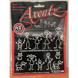 New Chroma Axentz Family Decals 12 Pieces - Weather Resistant - Made in U.S.A.