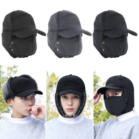 img-Men Trapper Trooper Hat Winter Earflap Warm Face Mask Ski Cap Windproof UK