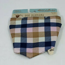 HOUSE OF BARKER Small Tan Reversible Bandana Size Small Fits neck 11 in to 14 in