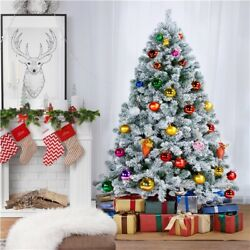 Kyпить 6ft/7.5ft Unlit Premium Snow Flocked Hinged Artificial Xmas Christmas Pine Tree на еВаy.соm