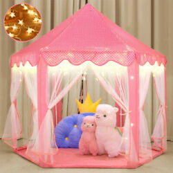 Kyпить Pink Princess Castle House Indoor/Outdoor Kids Play Tent for Girls w/ LED Lights на еВаy.соm