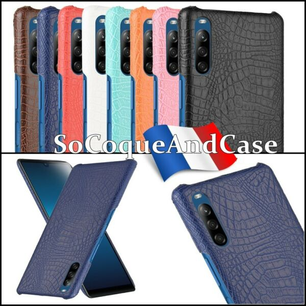 Roquefort les Pins,FranceEtui Housse coque Crocodile Texture Cuir PU Leather Case Cover Sony Xperia L4
