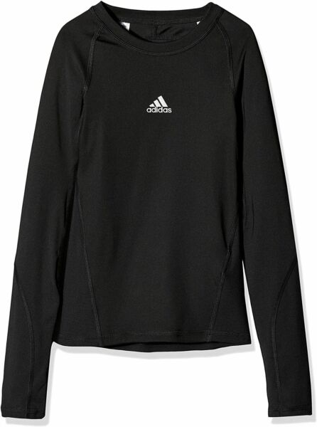 AllemagneADIDAS boys Ask LS Tee Y Long Sleeved T-Shirt, Black, 11-12 DEFECT