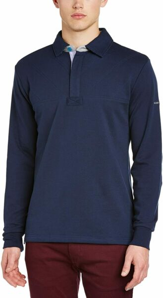 AllemagneHarry Hall men's sweater Long Sleeved Rugby Axminster, Navy, M