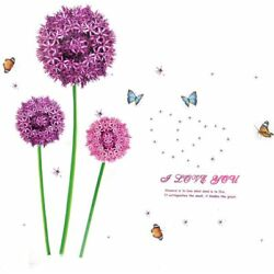 Flower Butterfly Print Adhesive Wall Sticker Decal 90 x 60cm