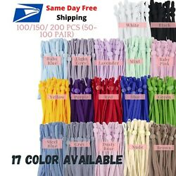 Kyпить 100-200 Pcs 1/4 inch Elastic Cord Band String with Adjustable Buckle for Mask  на еВаy.соm