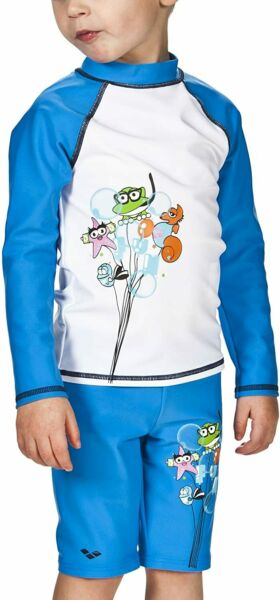 Allemagnearena boy swimming shirt sunscreen bathing Long Sleeved Shirts, UV protection, w